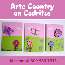 Arte country en Cedritos.  Celular 300 5607513
